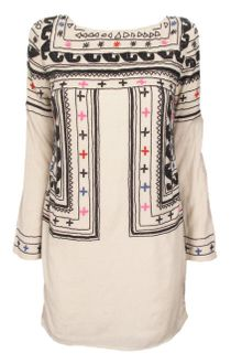 Mara Hoffman Beaded Fitted Wool Dress - Lyst