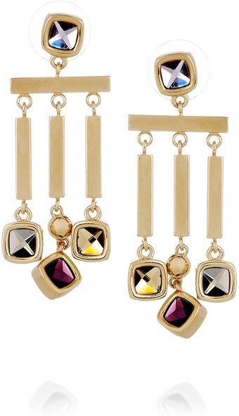 Marc By Marc Jacobs Ice Cubes Crystal Drop Earrings - Lyst