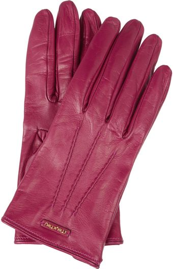 Miu Miu Leather Gloves - Lyst
