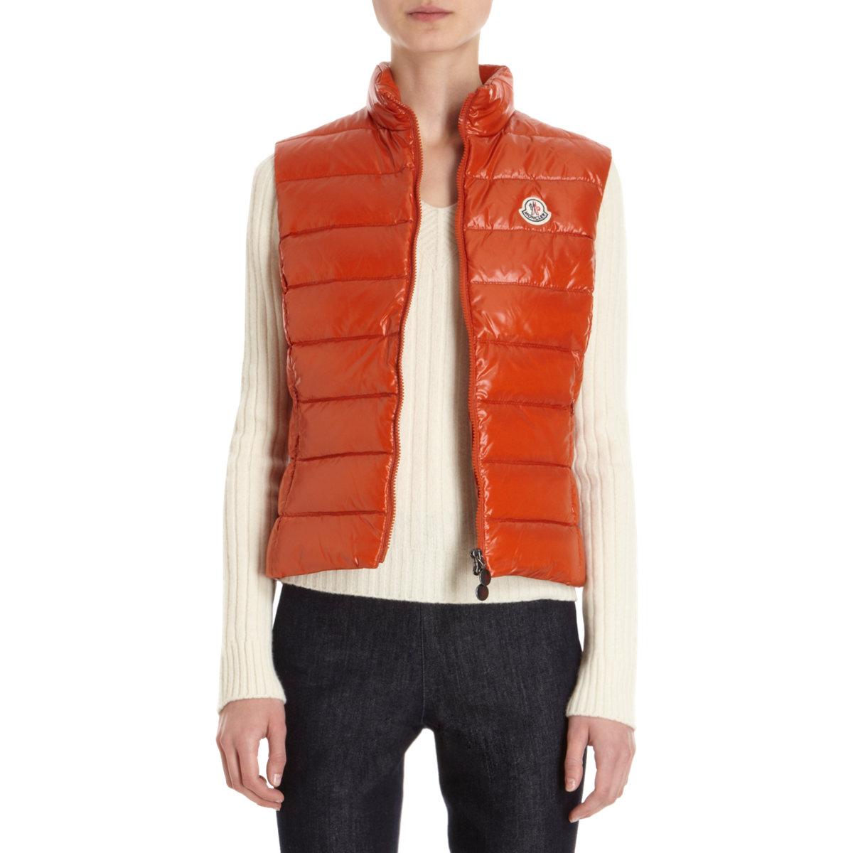 moncler orange jacket