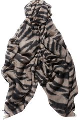 Mulberry Tigerprint Wool and Cashmereblend Scarf - Lyst
