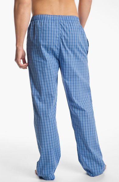 Polo Ralph Lauren Lounge Pants In Blue For Men Bond Plaid
