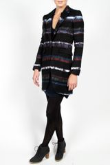 Rag & Bone Smoking Stripe Coat in Black (blue) - Lyst