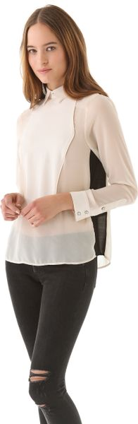 Rag & Bone Back Button Tux Shirt in White (ivory) - Lyst