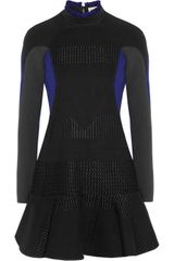 Stella McCartney Millie Woven and Stretch Woolblend Crepe Dress