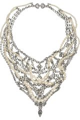 Tom Binns Regal Rocker Swarovski Crystal and Crystal Pearl Necklace - Lyst