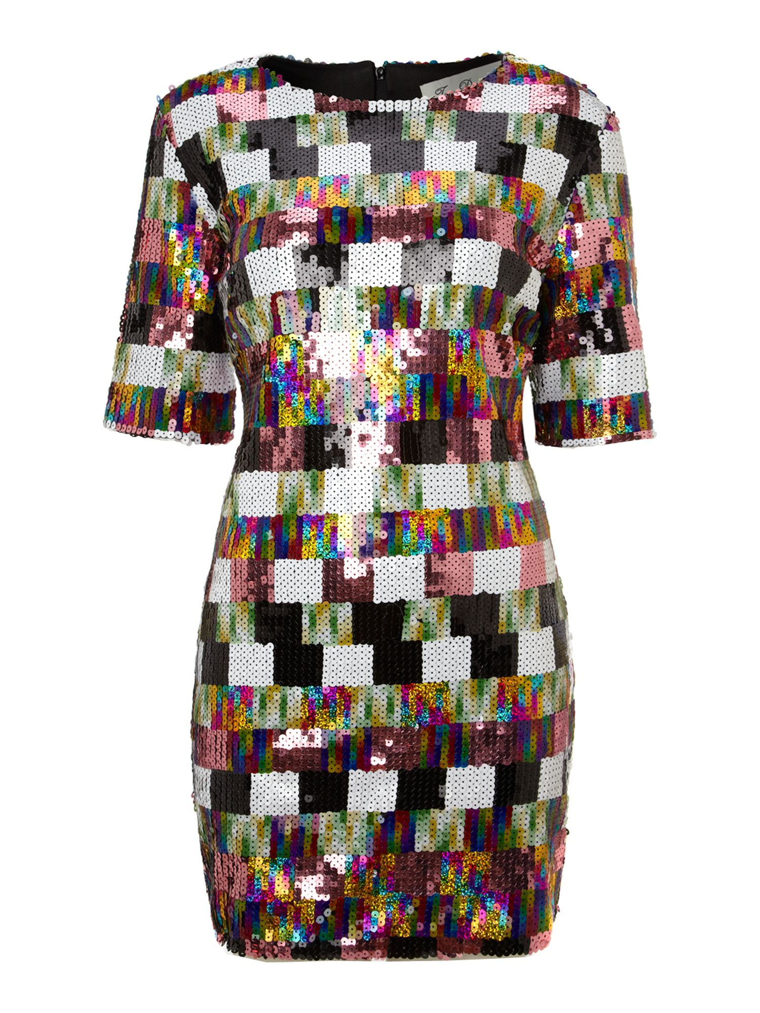 Multi Color Sequin Dress Dress Yp