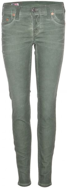 True Religion Casey Cold Dye Super Skinny in Green - Lyst