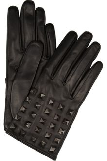 Valentino Rockstud Studded Leather Gloves - Lyst