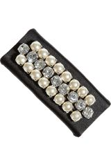 Valentino Swarovski Crystal and Faux Pearl Satin Hair Clip - Lyst
