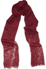 Valentino Lace and Cashmere Scarf - Lyst