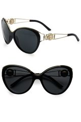 Versace Medusa Catseye Acetate Sunglasses in Black - Lyst