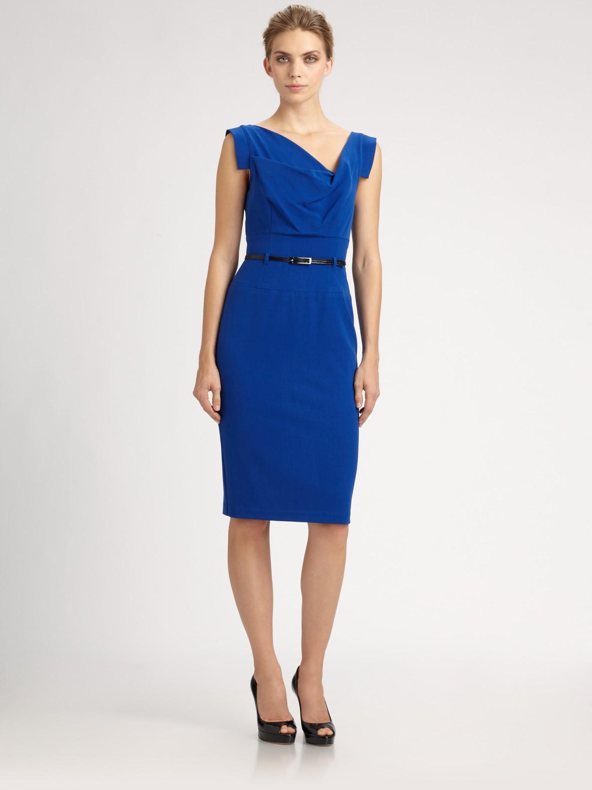 Black Halo Jackie O Dress In Blue Lyst