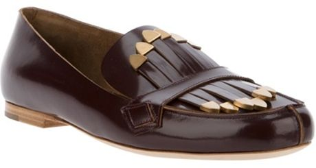 Chloé Tasseled Loafer in Purple (burgundy) - Lyst