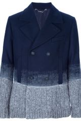 Frankie Morello Knit Detail Peacoat