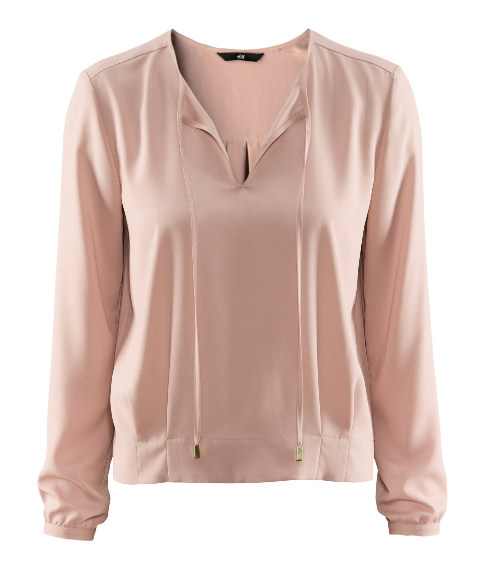Lyst H M Blouse In Pink