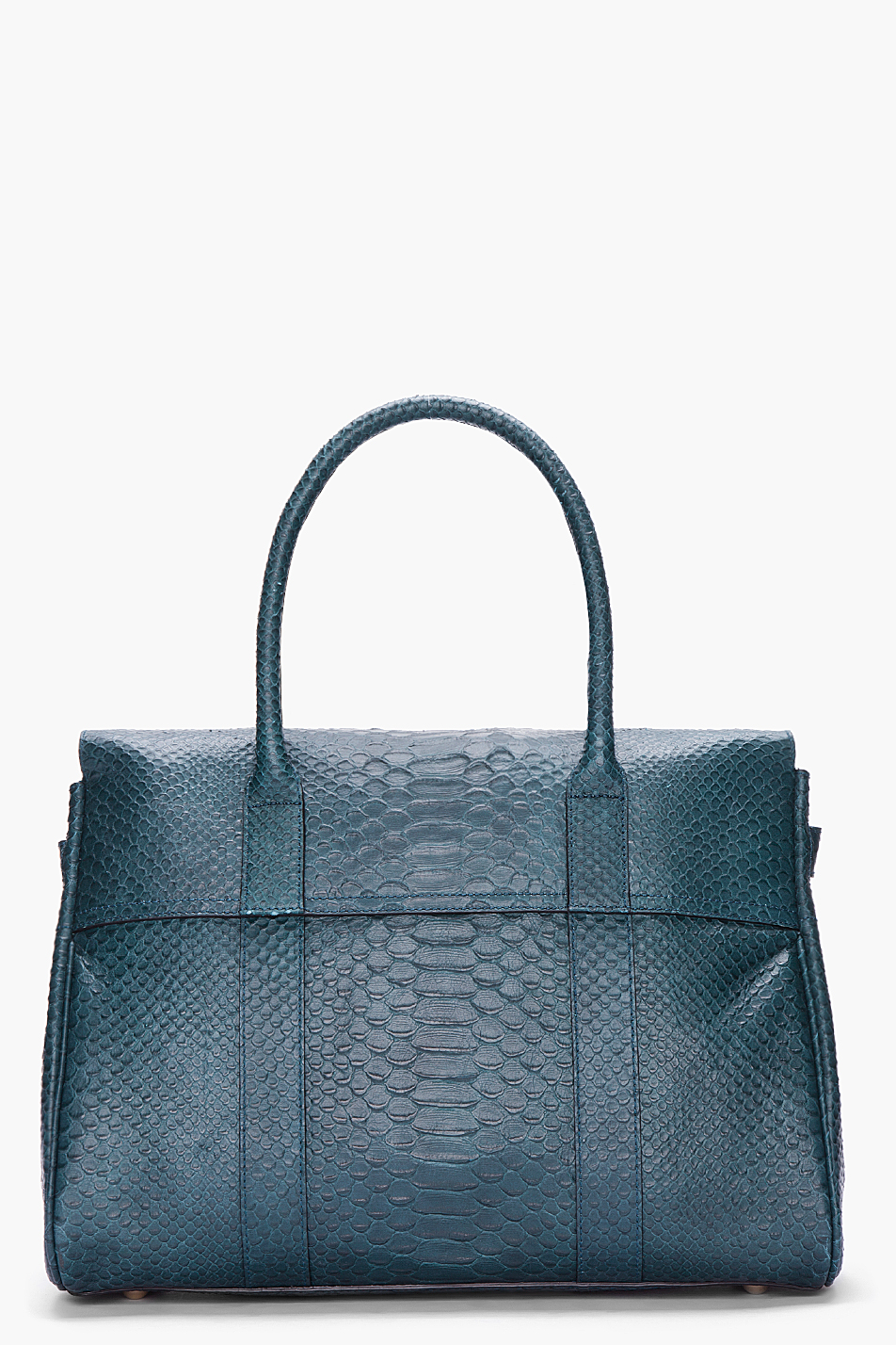 f8d9b202d4b3 ... best lyst mulberry bayswater silky snake print tote in blue f75b2 4d22d  ...