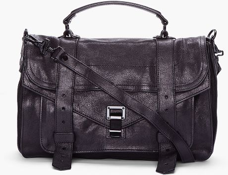 Proenza Schouler Medium Black Ps1 Satchel in Black - Lyst