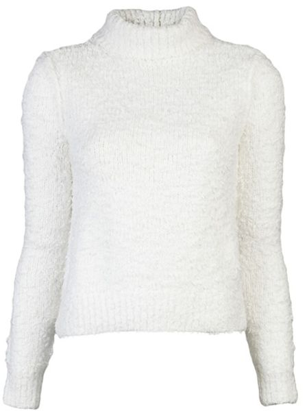 Rag & Bone Christina Turtleneck in White - Lyst