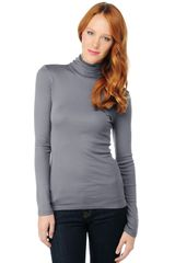 Splendid Turtle Neck Top - Lyst