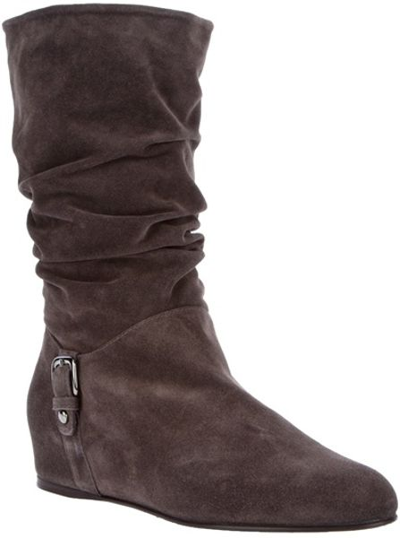 Stuart Weitzman Suede Boot In Brown Lyst