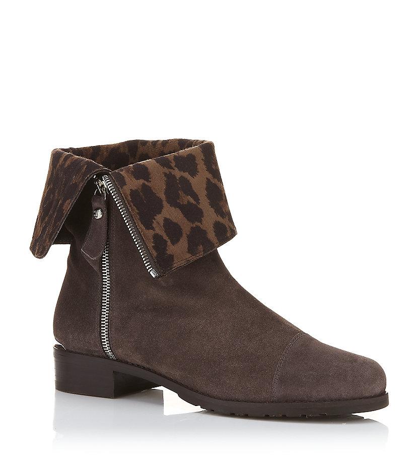 stuart weitzman duluth suede boot in animal leopard lyst