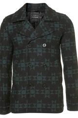 Topman Aztec Wool Skinny Fit Peacoat in Black for Men - Lyst