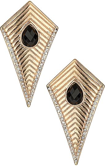 Topshop Engraved Point Drop Earrings - Lyst