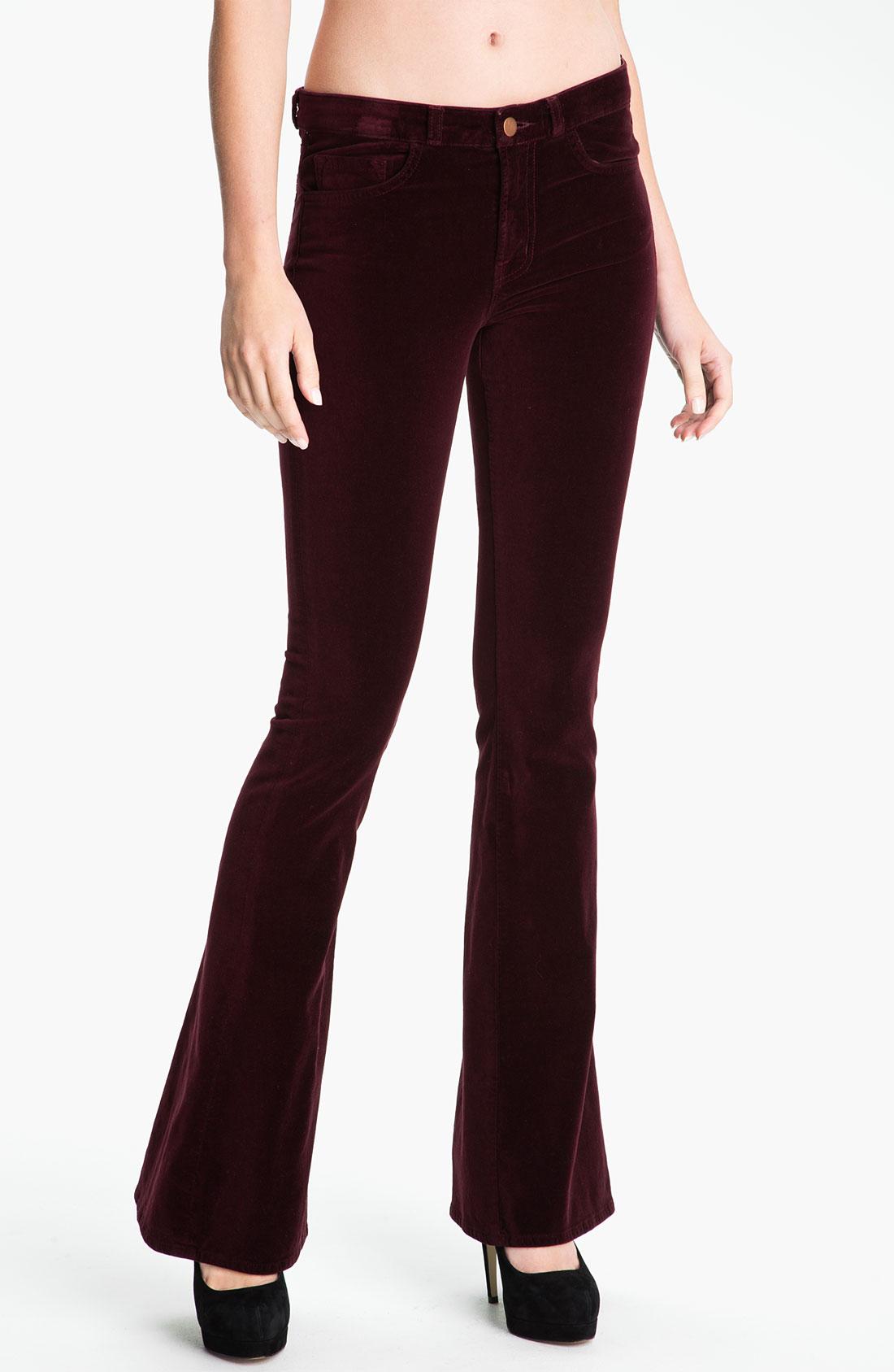 J brand 'velvet martini' skinny flare leg jeans