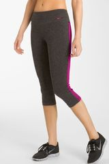 Nike Tight Fit Cotton Capris - Lyst