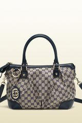 Gucci Sukey Original GG Canvas Top Handle Bag - Lyst