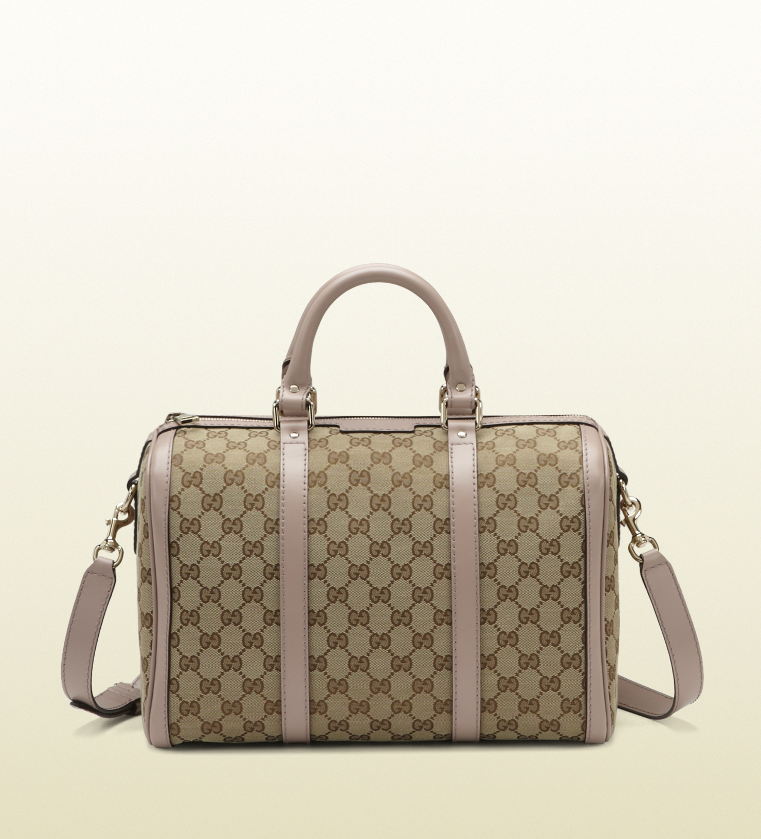 4f20fd6b34 Gucci Vintage Web Original Gg Canvas Boston Bag in Brown - Lyst