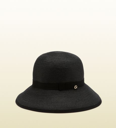 gucci black bucket hat in black lyst. Black Bedroom Furniture Sets. Home Design Ideas