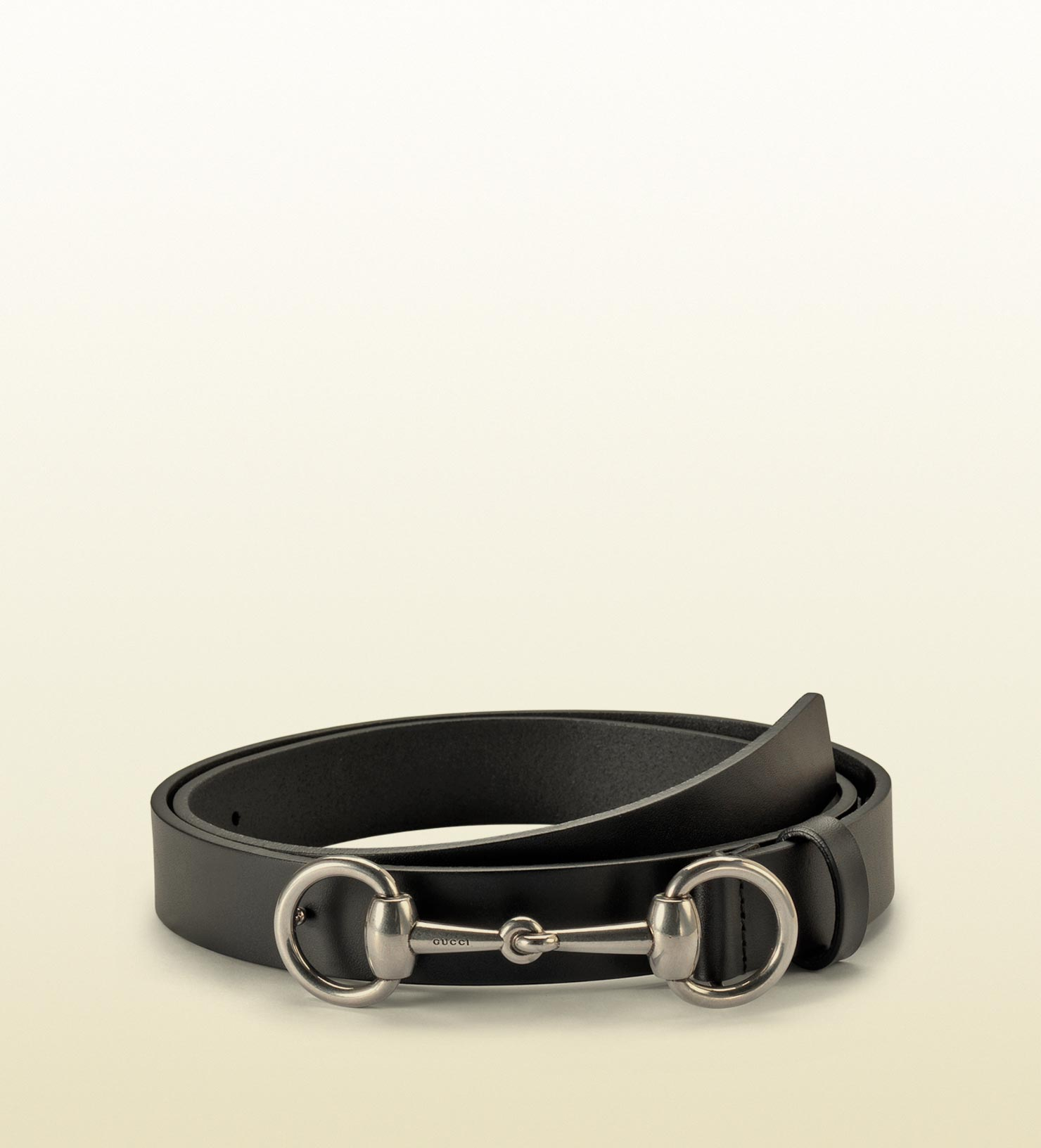 52a553c7045 Lyst - Gucci Black Leather Belt With Horsebit Buckle in Black for Men