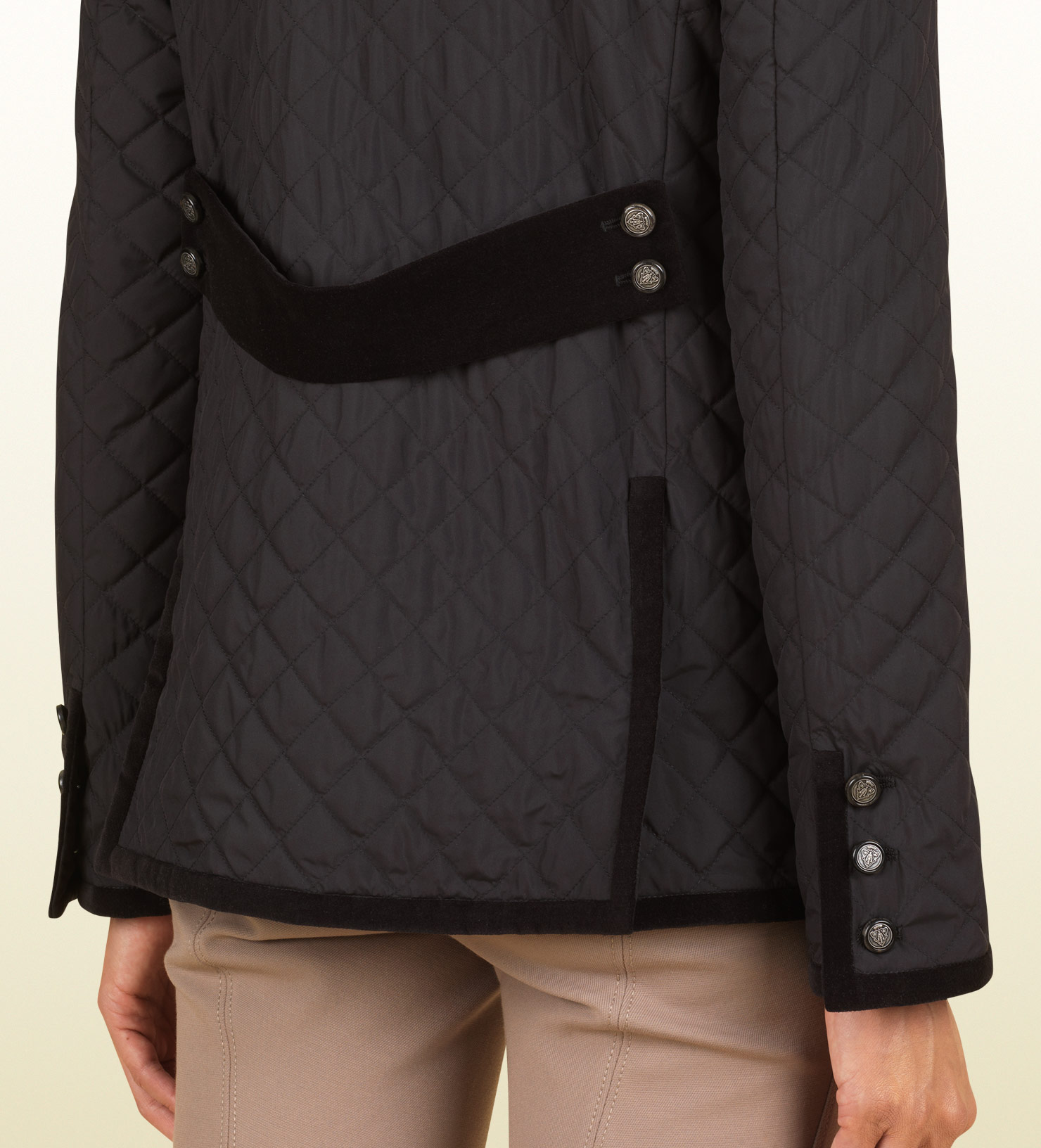 Lyst - Gucci Black Quilted Jacket From Equestrian Collection in ... : gucci quilted jacket - Adamdwight.com