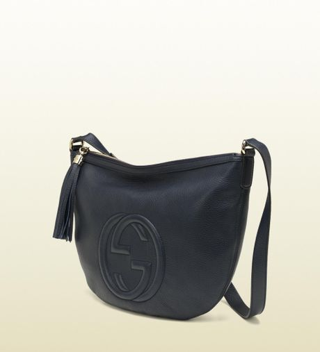 Gucci Soho Blue Leather Messenger Bag in Blue