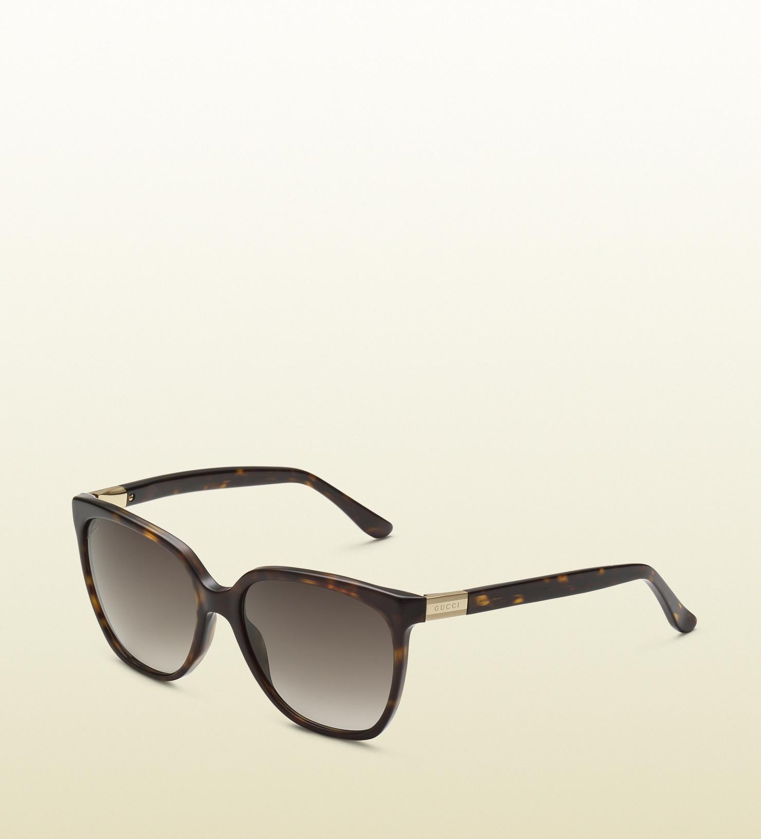 2884c00bd5 Lyst - Gucci Womens Biobased Square Sunglasses in Black