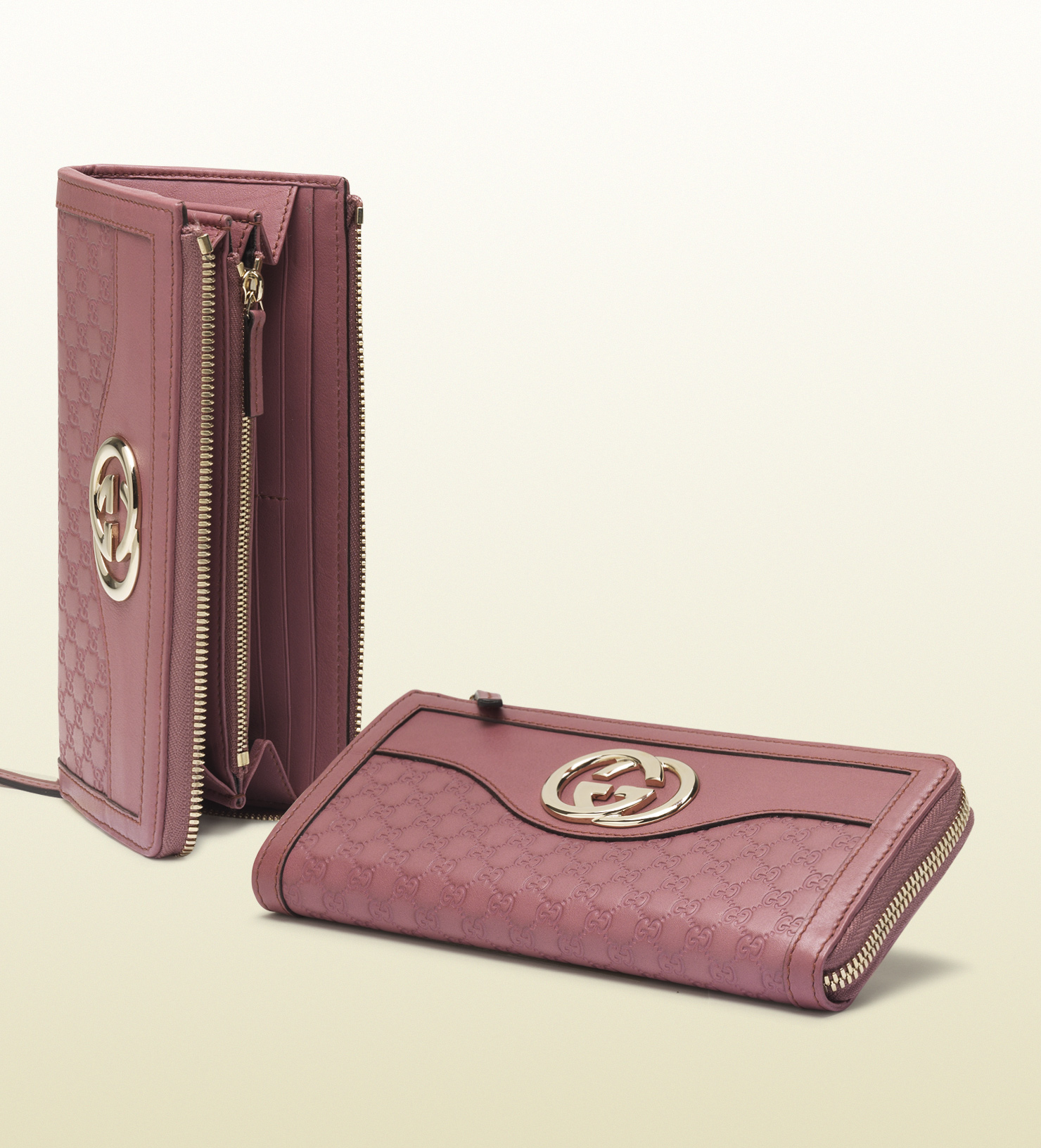 a295f84a6ca Lyst - Gucci Sukey Microguccissima Leather Zip Around Wallet in Pink