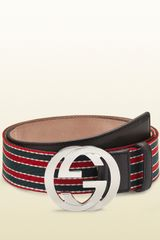Gucci Ribbon Belt with Interlocking G Buckle - Lyst