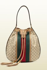 Gucci Rania Drawstring Shoulder Bag - Lyst
