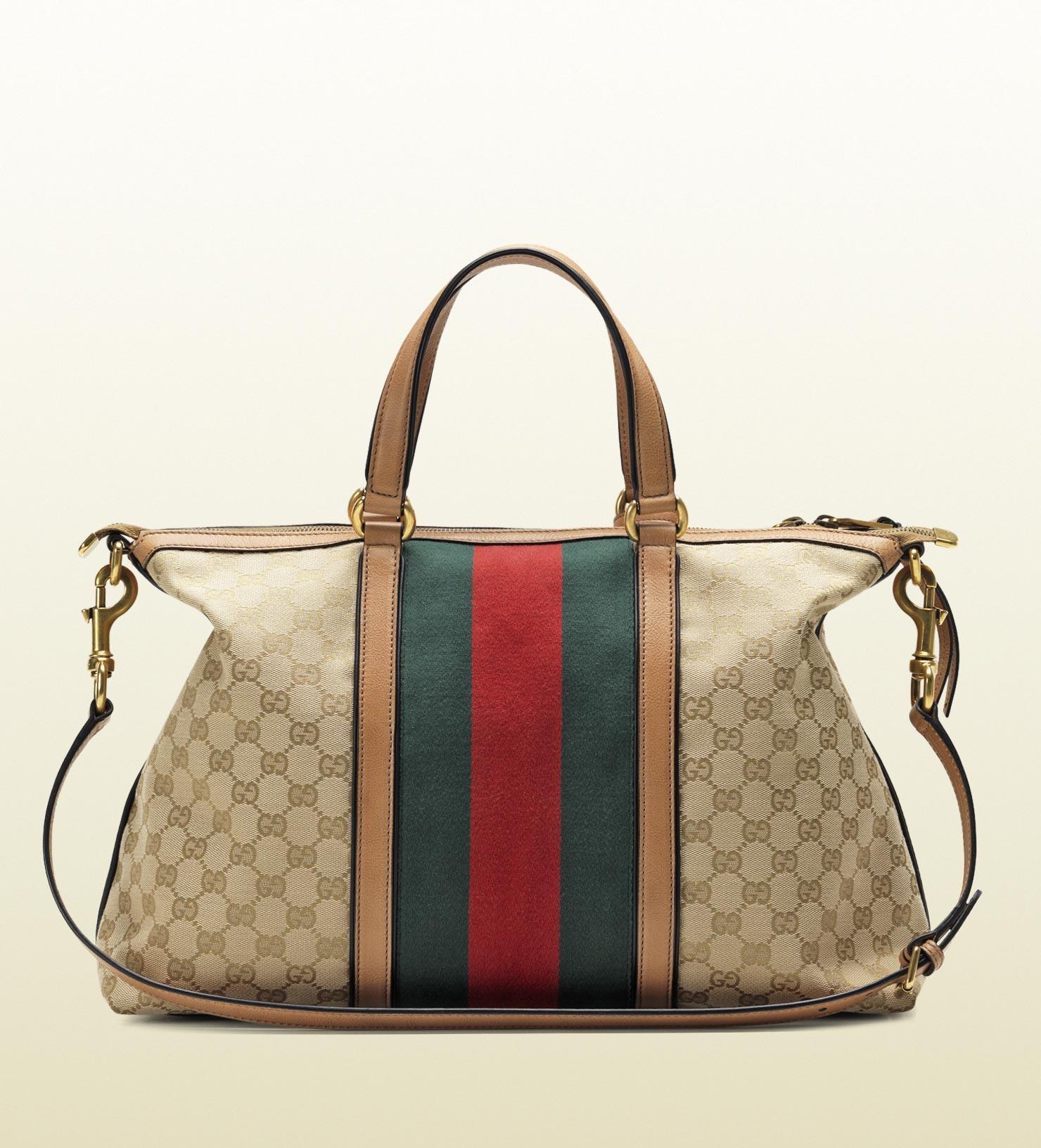 Lyst Gucci Rania Original Gg Canvas Top Handle Bag
