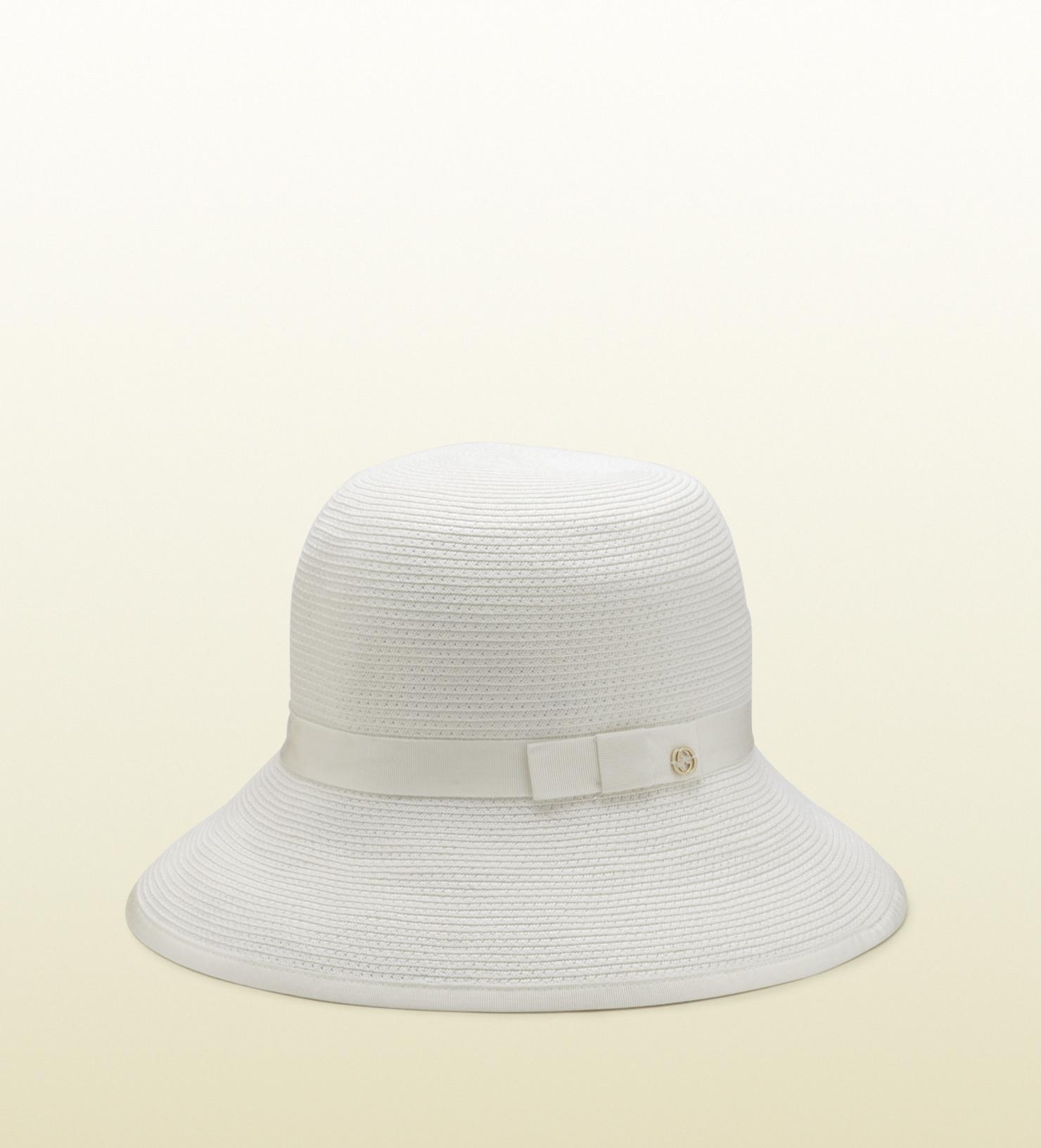 gucci white bucket hat in white lyst