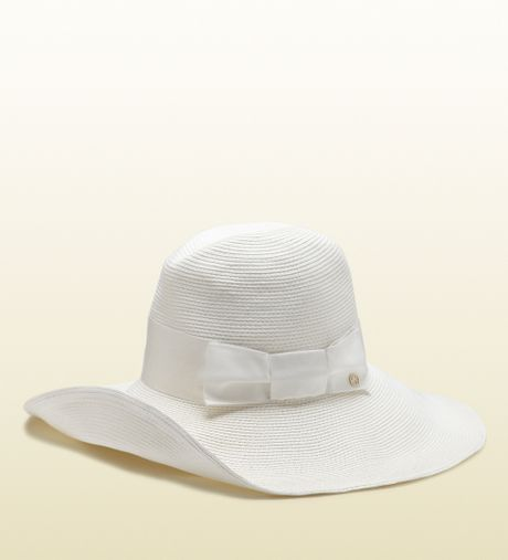 Lyst - Gucci Gg Pattern Hat With Web Detail in White for Men |White Gucci Hat