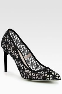 Jason Wu Sigrid Mesh Lace Patent Leather Pumps - Lyst