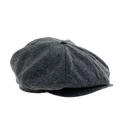 J Crew Wool Newsboy Hat In Gray For Men Dark Grey Lyst