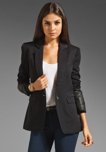 Ksubi Wool and Leather Blazer - Lyst