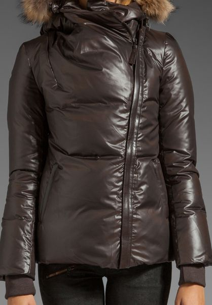 Mackage Shiny Puffy Merial Jacket In Brown Coco Lyst