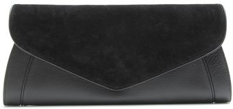 See By Chloé Suede and Leather Clutch - Lyst