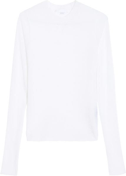 Alexander Wang Floating Ottoman Knit Top in White - Lyst