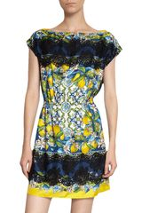 Dolce & Gabbana Printed Boatneck Dress - Lyst